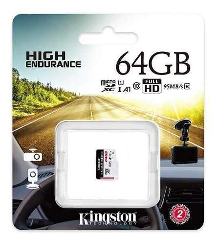 Memoria micro sd 64gb uhs-i u1 clase 10 95mb/s kingston endu