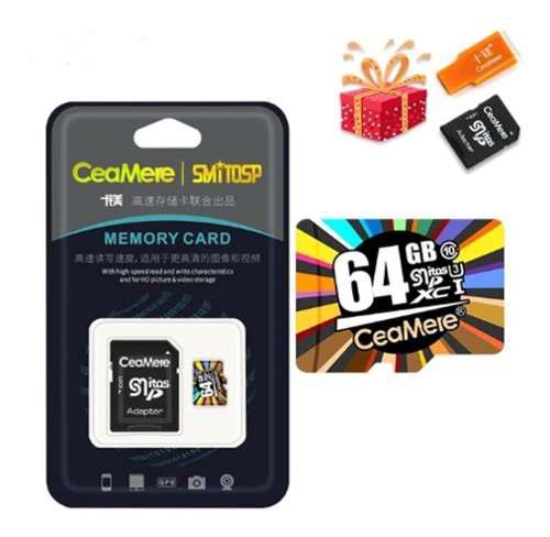 Memoria micro sd ceamere 64gb + adaptador sd + lector de mem