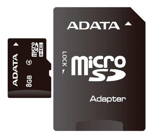 Memoria micro sdhc 8gb adata con adaptador clase 4 original