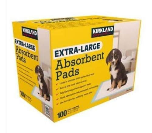 Tapete Toallas Paños Absorbente Para Perros X 100u Kirkland