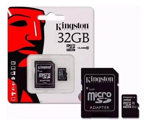 Tarjeta microsd kingston 32gb clase 10 - adaptador sd