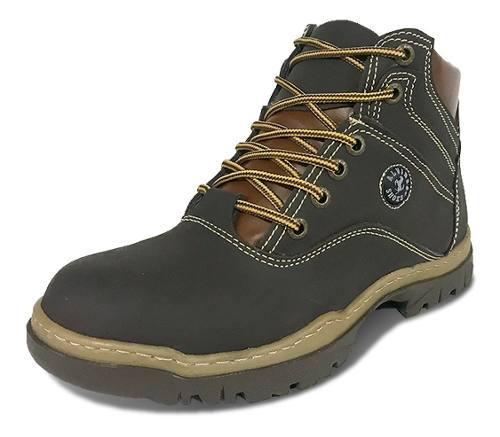 Botas cuero graso nobuck tipo brahma shoes militar cocidas