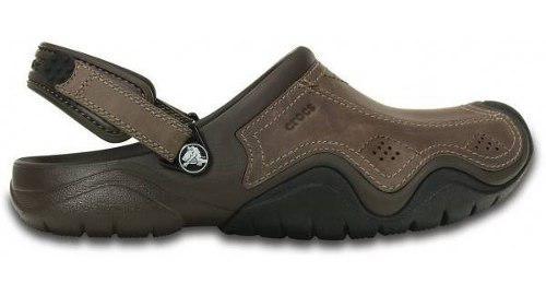 Crocs Swiftwater Leather Clog 100 % Originales