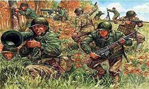 Italeri 1:72 Infantería Estadounidense Segunda Guerra