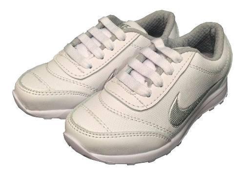 Zapato Para Niños Y Niñas Colegial Blanco
