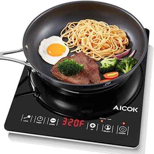 Cocina electrica quemador sensor tactil 1 hornilla aicok