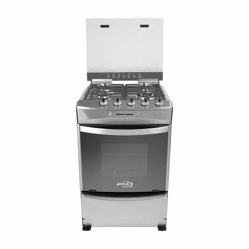Estufa con horno y gratinador 4 puestos, abba ab 305-6 inox