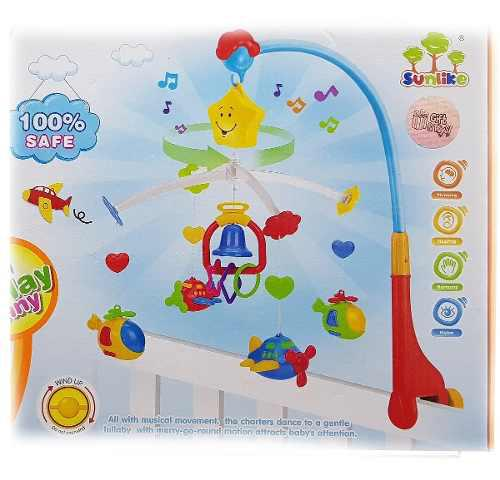 Movil musical cuna bebe baby shower diseño aviones