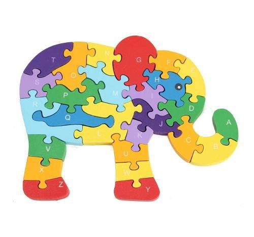 Rompecabezas animales de colores para niños