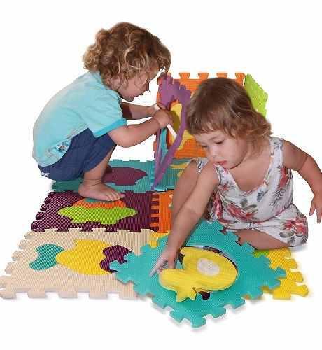 Tapete alfombra foamy didáctico figuras 20 piezas piso