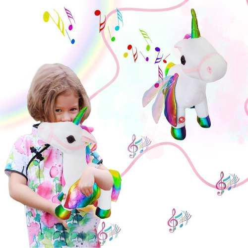 Unicornio little pony alas juguete luces peluche sonido