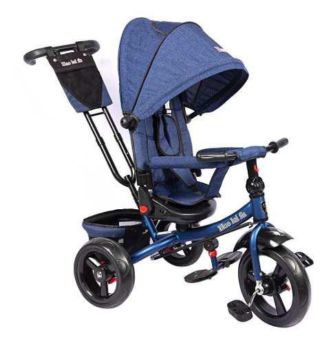 Paseador triciclo coche bebés silla reclinable y giratoria