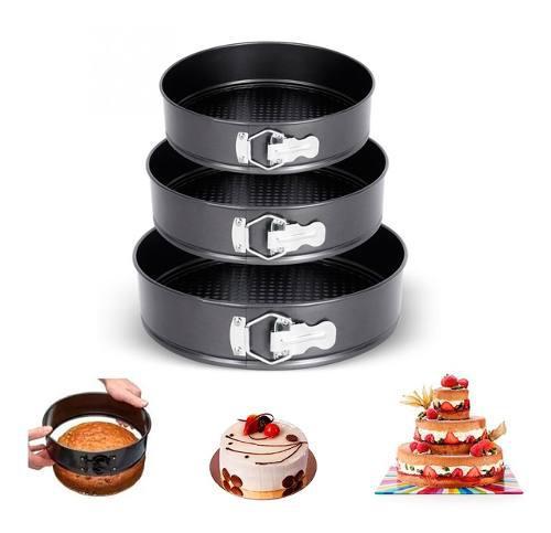 Moldes x 3 pastelería ponque torta antiadherente