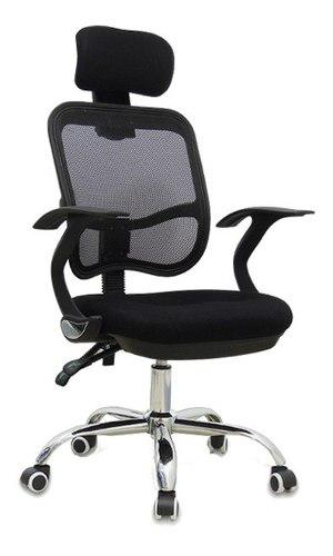 Silla de escritorio oficina computo giratoria comoda negra