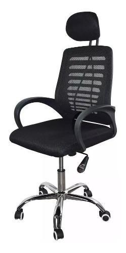 Silla de oficina ejecutiva ergonómica giratoria negra