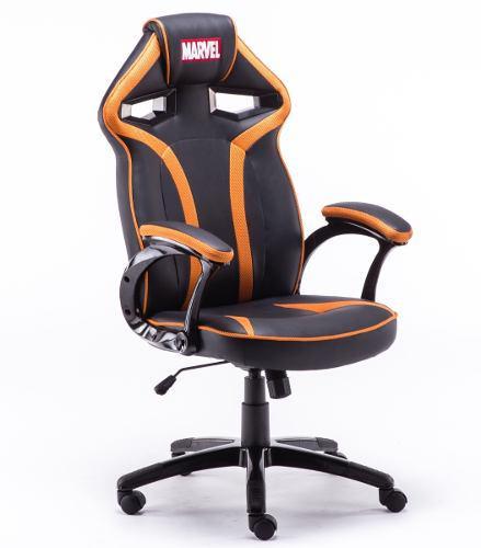 Silla gamer giratoria reclinable ergonomica marvel negra