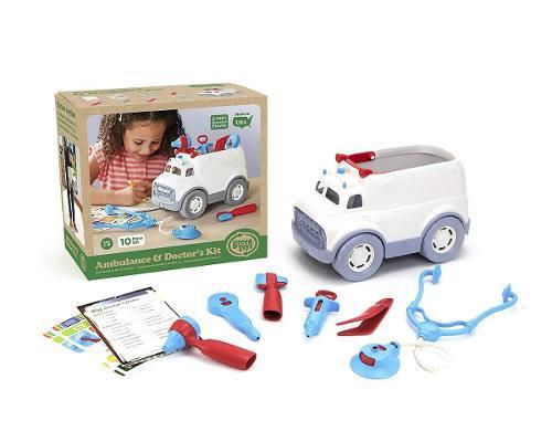Ambulancia de juguetes verdes juego de roles para el doct...