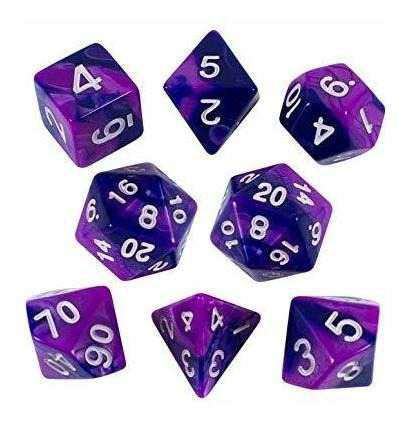Paladin juego de rol purpura e indigo dados conjunto de poli