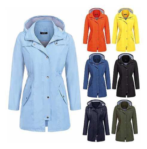 Chaqueta impermeable mujeres encapuchado chaqueta ligero al