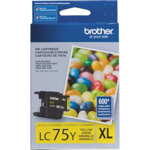 Impresora brother lc75y tinta de cartucho amarilla de alto