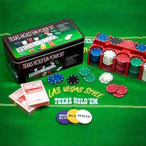 Juego de poker texas hold em poker set