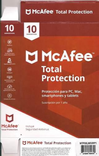 Antivirus mcafee total protection 2020 10 devices 1 año