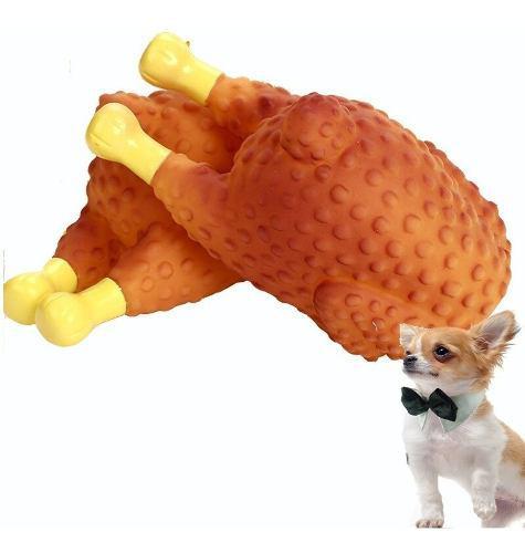 Juguete para perros mordedor encias chillon forma pavo mnr