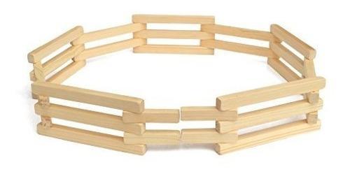 Juguete plegable de madera de la cerca de corral, amish