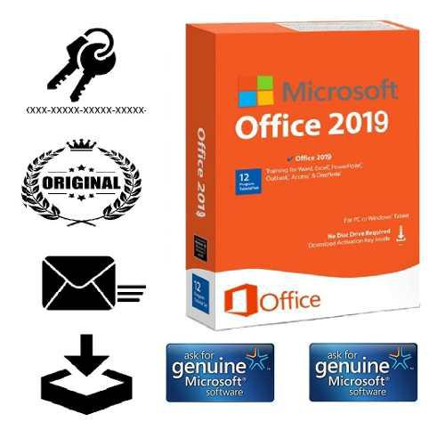 Licencia office 2019 professional plus 3 pc original