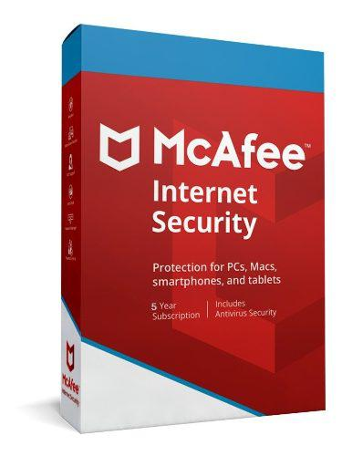 Mcafee internet security 2019 -licencia de 5 años / 1