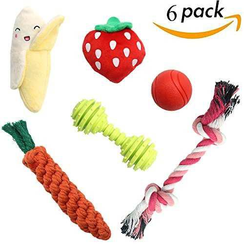 Scenereal pequeño perro masticar juguetes set