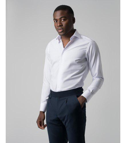 Camisa manga larga limonni m004 para hombre elegante blanco