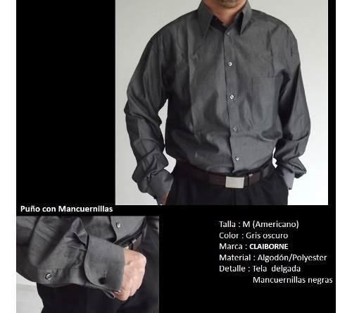 Camisas hombre de marca mancuernillas manga larga