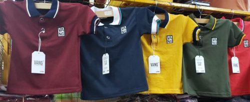 Camisas tipo polo para niños manga corta casual