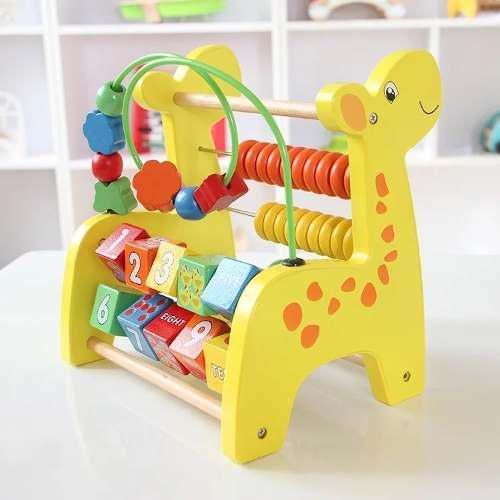 Jirafa ábaco juegos didácticos infantiles madera