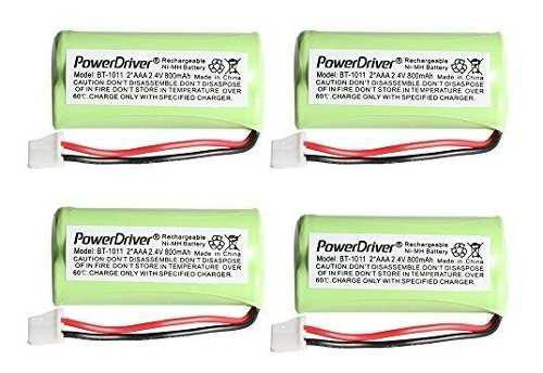 Powerdriver 4 piezas bateria de telefono inalambrico recarga