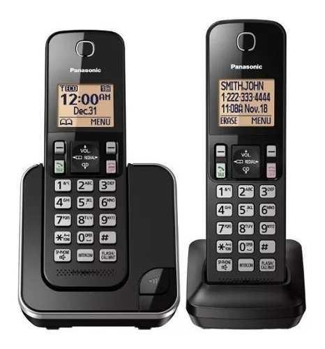 Teléfono inalámbrico dual altavoz panasonic kt-tgc352lab