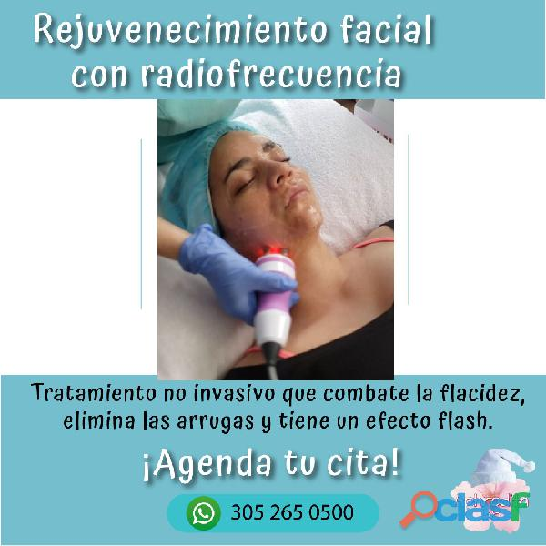 Rejuvenecimiento facial con radiofrecuencia