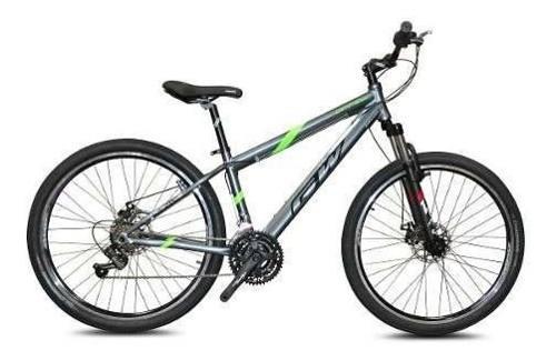 Bicicleta gw arrow shimano revoshift 21v freno gris verde.