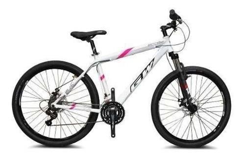 Bicicleta gw arrow shimano revoshift aluminio blanco rosa