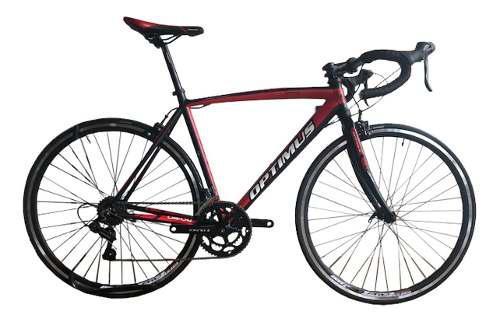 Bicicleta optimus ruta aluminio grupo shimano rin 700