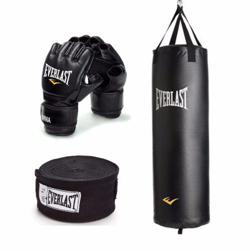 Combo tula boxeo mma + guantes + vendas everlast heavy bag