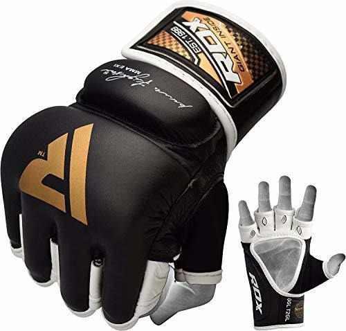 Rdx mma guantes agarre artes marciales cuero saco de boxeo