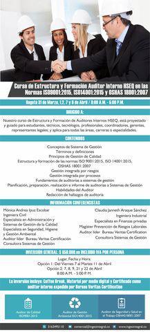 Curso de estructura y formación auditores internos hseq en