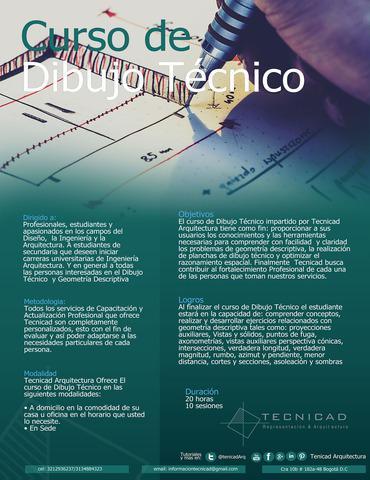 Cursos prearquitectónico - dibujo técnico geometrico y