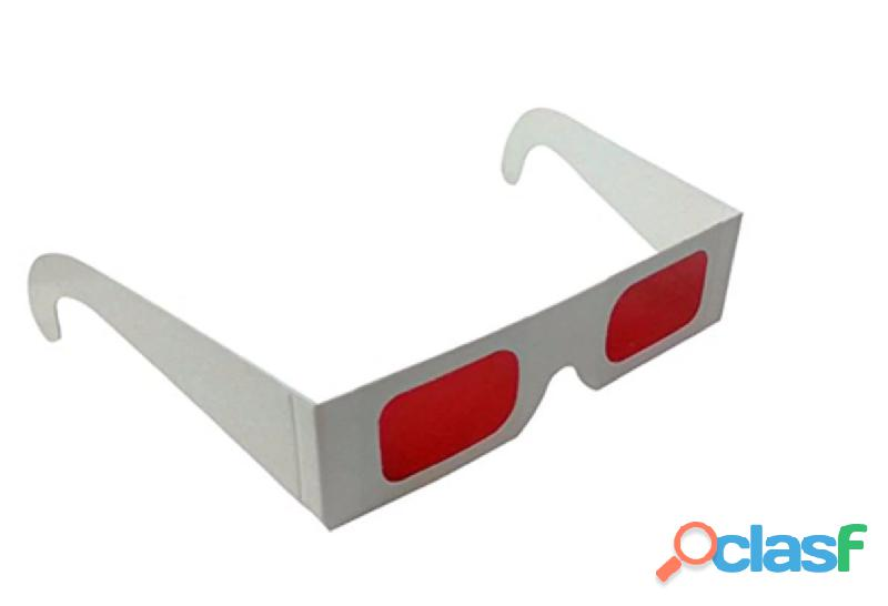 Gafas 3D Decodificador Lenter Rojo