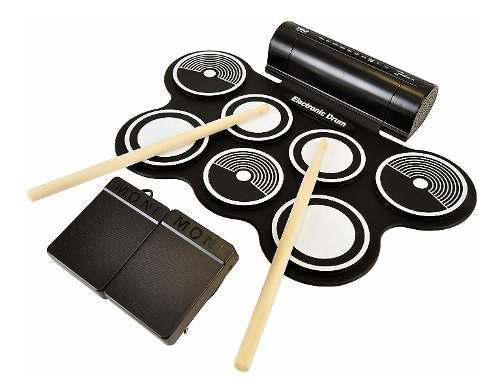 Kit de batería electrónica roll up midi con 7