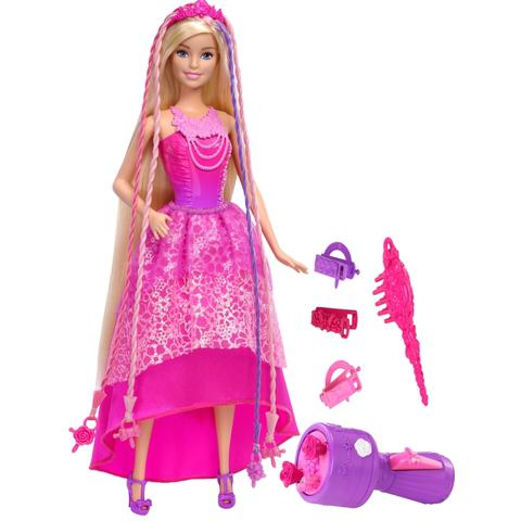Muñeca barbie reino de peinados mágicos dkb62 mattel what