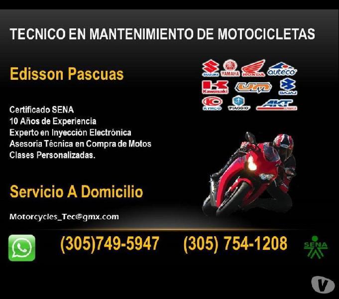 Reparacion y desvare de motos a domicilio (tecnico sena)