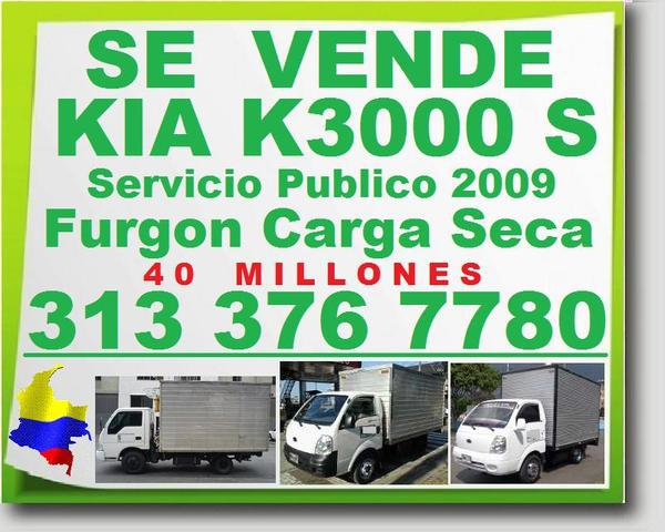 Vendo furgon kia k 3000 s, 2009, camion, camioneta, servicio
